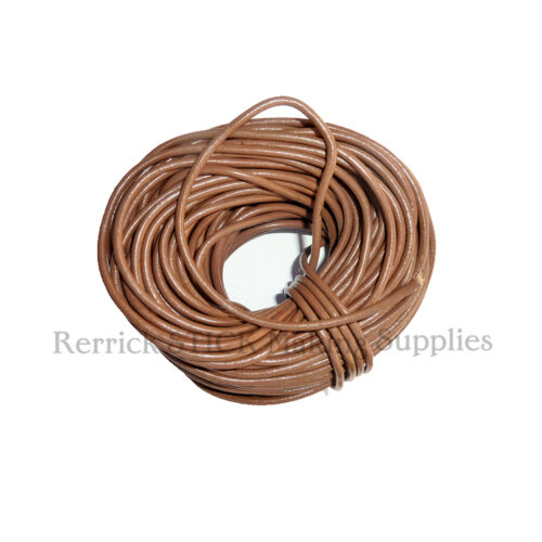 ... Brown Round Leather Lace for Walking Stick Lanyards Arts Crafts   eBay