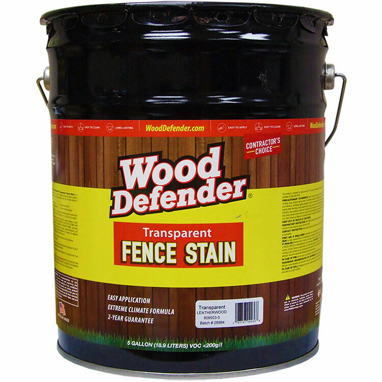 Wood Defender Transparent Fence Stain LEATHERWOOD 5-gallon