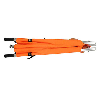 Orange Foldable Lifesaving Emergency Medical Stretcher Bed Wheel Aluminum Mwt