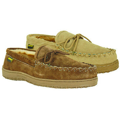 Old Friend Footwear - Men's Plush Pile lined Moccasin Slipper - - Pile Lined Moccasin