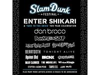 2 Slam Dunk with Afterparty Tickets, Birmingham NEC, Saturday 27 May.