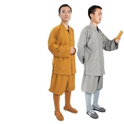 Buddhist Set Shirt Pants Men Women Frock Cotton Thin Clothing Monk Buddhism - Monk Clothes
