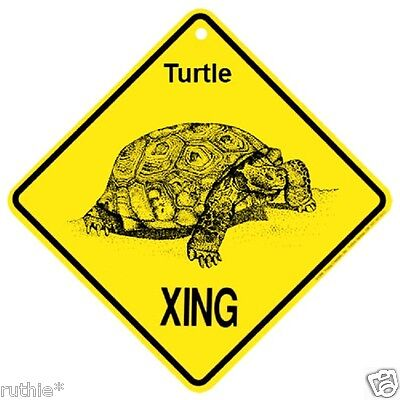 Turtle Crossing Xing Sign New Tortoise