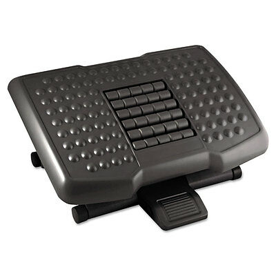 Kantek Premium Adjustable Footrest With Rollers Plastic 18w x 13d x 4h Black