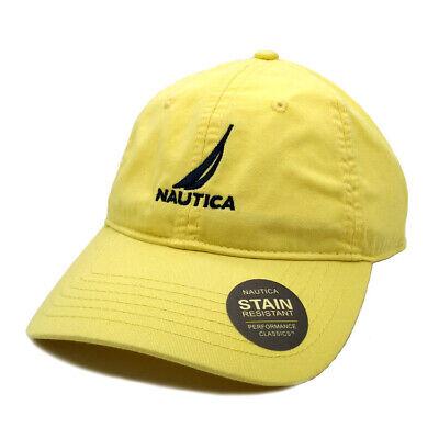 Nautica Hat Baseball Golf Ball Classic Sport Casual Yellow Unisex Cap