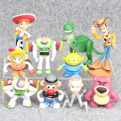 Toy Story Woody Buzz Lightyear Jessie Rex Alien 10 PCS Figure Toys Cake Toppers - Woody Toy Story Jessie