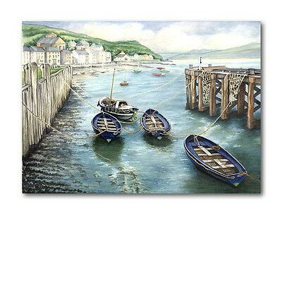 Boat at Aberdovey Father's Day Card (Ref eb279) Wales Welsh Coast Seaside Beach