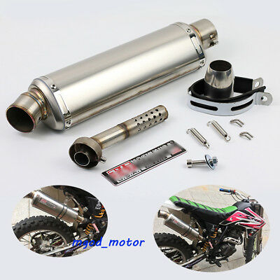 440mm Universal Exhaust Muffler Pipe with DB killer Slip 51mm for Motorcycle ATV