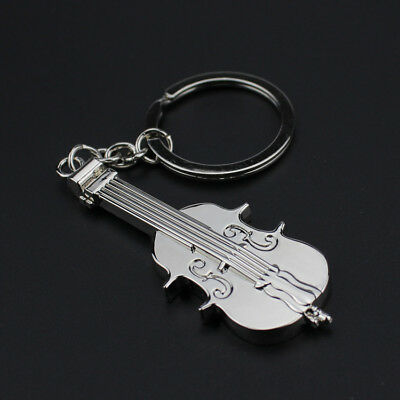 Creative Mini Metal Guitar Violin Key Ring Keyring Keychain Pendant Gift