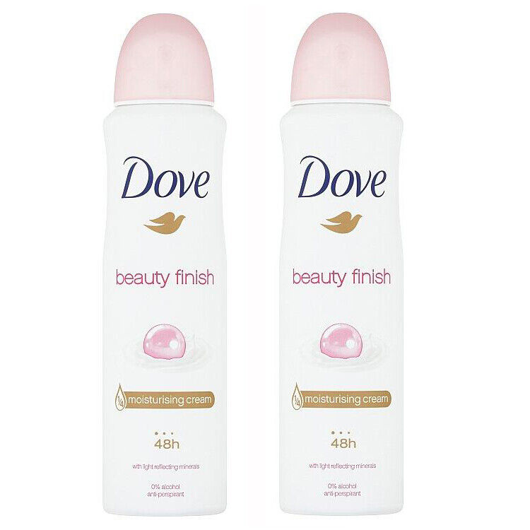 6 Dove Antiperspirant Deodorant Spray Beauty Finish Mineral