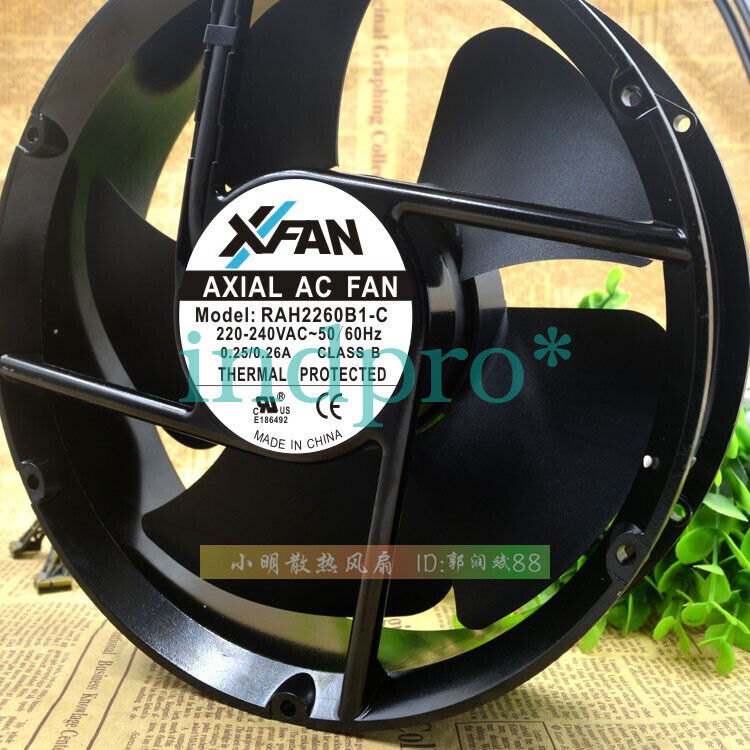 Round XFAN RAH2260B1-C 220-240v 0.25/0.26A high temperature cooling fan
