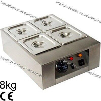 8kg Commercial Electric Chocolate Tempering Machine Melter Maker W/4 Melting Pot