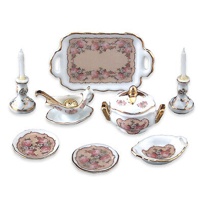 Reutter Porzellan Speiseset Classic Rose Dinner Service for Two Puppenstube