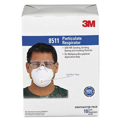 3m Particulate Respirator Wcool Flow Exhalation Valve 10 Masksbox 8511