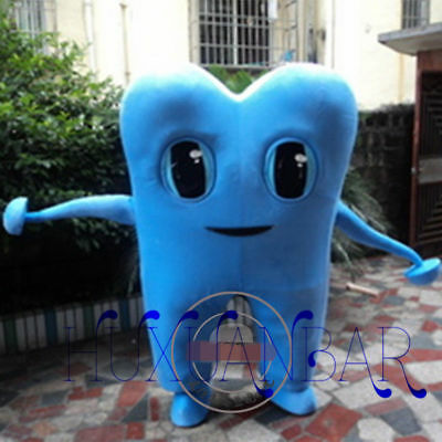 Cute Smiling Blue Tooth Dentist Mascot Costume Fancy Party Adult Dress Xmas Gift