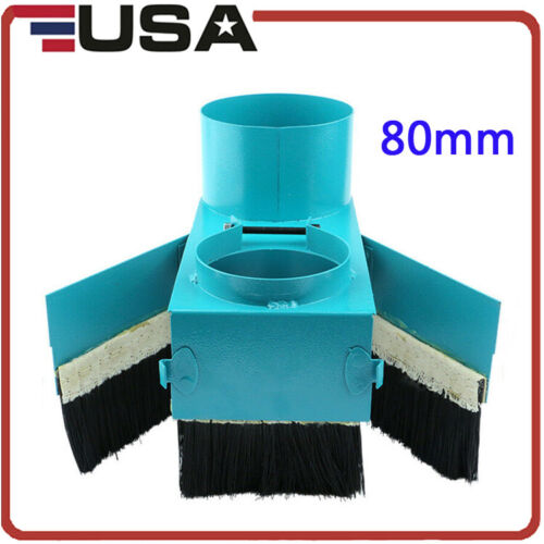 80mm Double Door Spindle Dust Shoe Cover Cleaner for CNC Router Engraver Machine