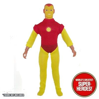 "Mego Iron Man Outfit Bodysuit Repro For 8"" Action Figure WGSH Custom Parts Lot - Iron Man Outfit"