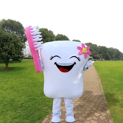 2019 Adult Tooth Mascot Costume Dental Care Unisex Cosplay Dress for - Tooth Costumes