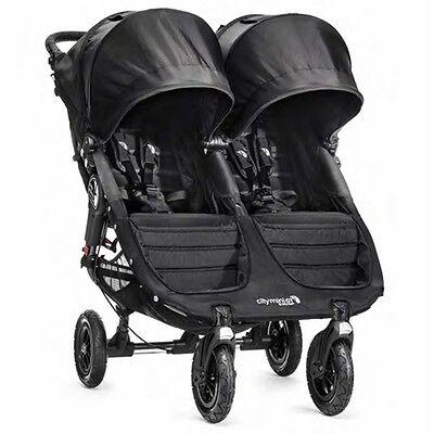 Baby Jogger 2016 City Mini GT Double Stroller - Black - New! Free Ship!