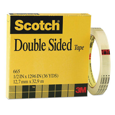 Scotch Double-sided Tape 12 X 1296 3 Core Clear 665121296