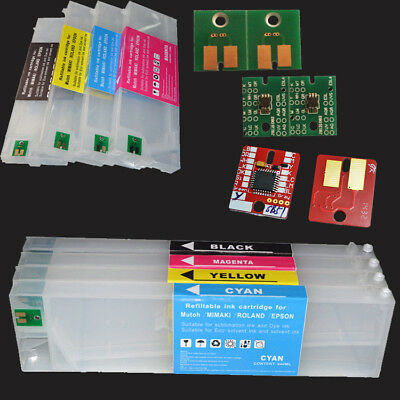 Refillable Cartridge With Permanent Arc Chip For Roland Eco-sol Max 4pcsset