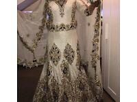 Asian bridal wedding dress.