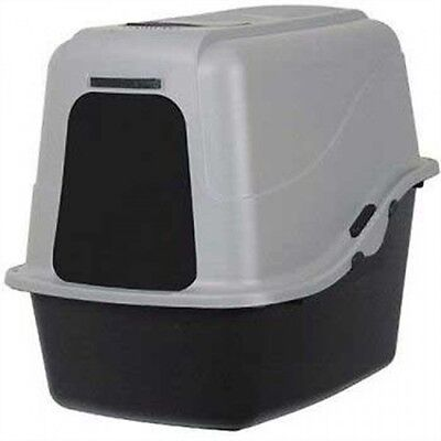 Petmate Hooded Litter Pan Set Large, Black/Gray, New, Free Shipping