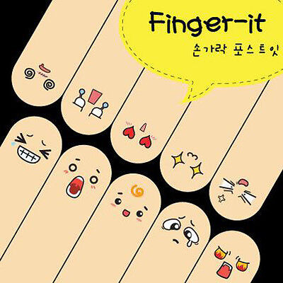 t! Cute 200 Pages Ten Fingers Sticker Bookmark Flags Memo Marker Sticky Note 1PC
