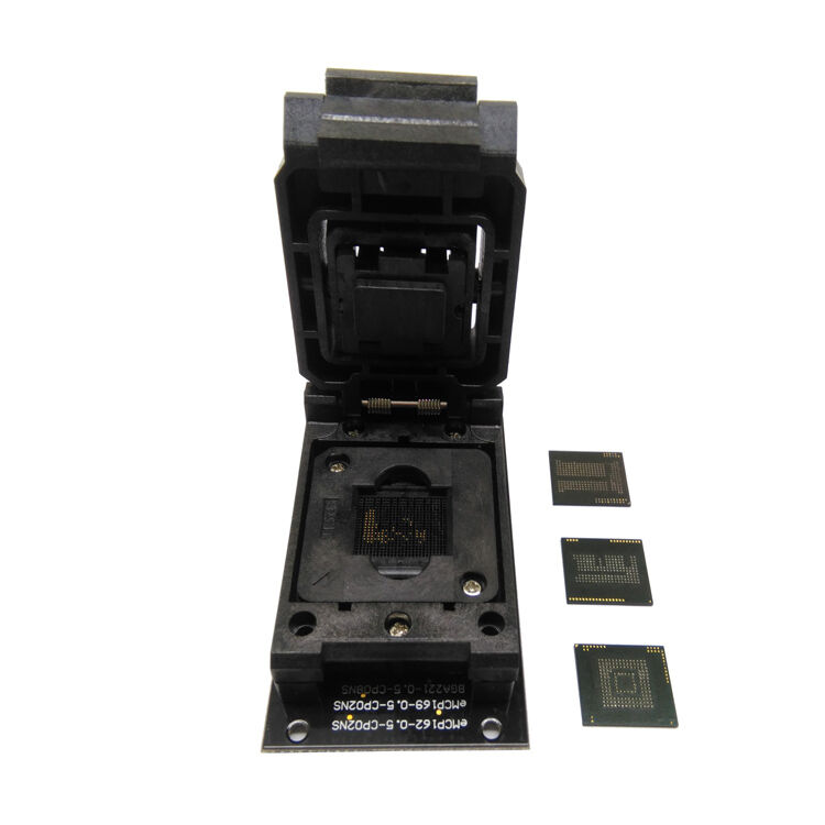 eMMC eMCP 3 in1 test socket SD BGA153/169 BGA162/186/221 reader data recovery
