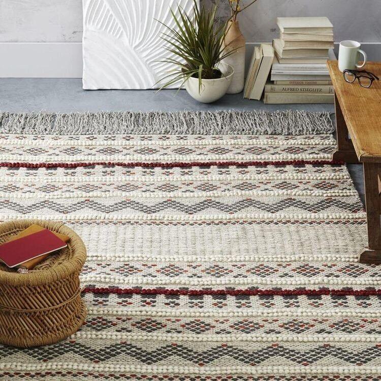 West Elm Atlas Wool Rug With Underlay