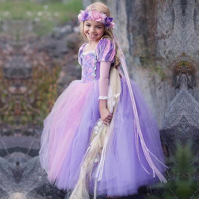 Mädchen Disney Prinzessin Kostüme (Disney Sofia Prinzessin Kostüm Kinder Mädchen Kleid Cosplay Abendkleid)