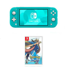 Nintendo Switch Lite Turquoise + Nintendo Pokemon Shield - Compatible w/ Nintend