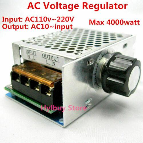 AC 110V 120V SCR Voltage Adjustable Regulator Motor Speed Control Dimmer 4000W
