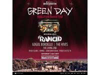 2 x Tickets to see Green Day at Hyde Park on Saturday 1st July