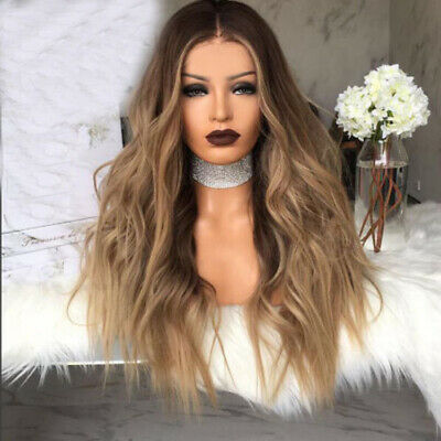 US HOT Women Wavy Curly Long Hair Wig Blonde Brown Cosplay Party Ombre Synthetic](Hot Cosplay Women)