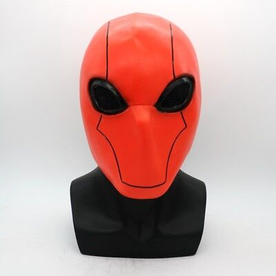 Red Hood Mask (US Batman Robin Red Hood Mask Adult Full Face Halloween Cosplay Prop Latex)