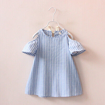 Kids Party Outfit (Kids Baby Girls Short Sleeve Princess Dress Outfit Party Sundress Clothes)