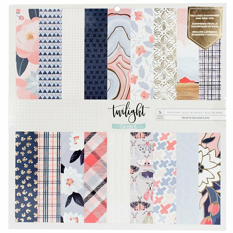 one Canoe two- Twilight Collection 12x12 Paper Pad with Foil Accents