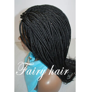 Vente synthetic fully hand braided lace front wig