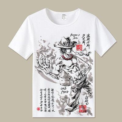 Cosplay One Piece D.ACE Anime Manga T-Shirt Kostüme Polyester - Ace One Piece Kostüm