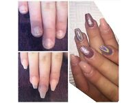 Acrylic nails, gel nails, nail technician, nail extensions, gel polish