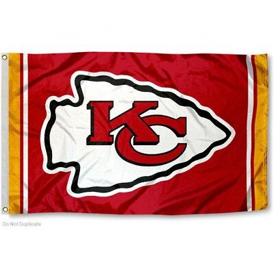KANSAS CITY CHIEFS FLAG 3'X5' NFL TEAM LOGO BANNER: FREE SHIPPING