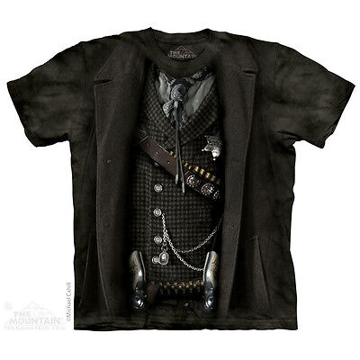 THE MOUNTAIN THE SHERIFF OUTLAW HUNTER ALL OVER BODY DUSTER BADGE T SHIRT - Sheriff Duster