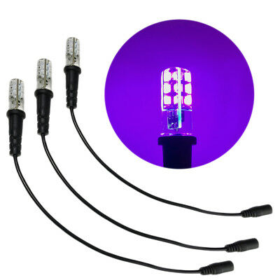 Blacklight Props (3 pack black light special effects props led 12 volts dc with cable socket)