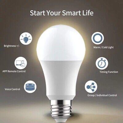 US E27 WiFi Smart Light Bulb LED Dimmable App Control for Alexa,...