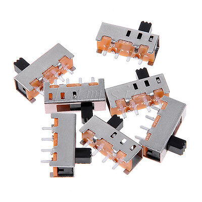 New Hot 20pcs Ss-13f11g5 3 Position 4 Pins Spdt Vertical Mini Slide Switch Pcb