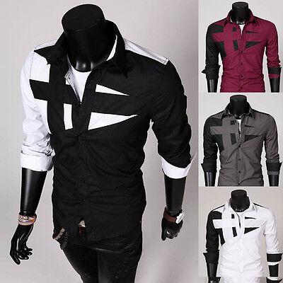 Men Slim Fit Unique Neckline Stylish Dress Best Selling Long Sleeve Casual (Best Mens Slim Fit Dress Shirts)