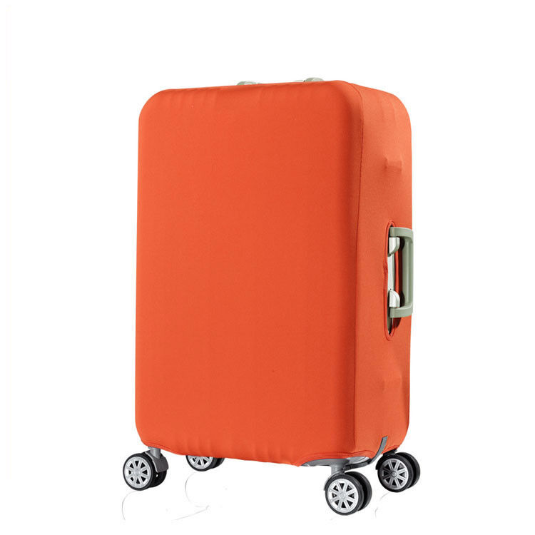 Plain Travel Luggage Cover and Suitcase Protector, Orange Large 26-28