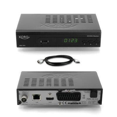 XORO HRK 7618 Digital HD Kabel Receiver DVB-C (7660 7620) HDMI LAN USB Scart