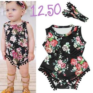 Brand new with tags, baby rompers w/ headband.